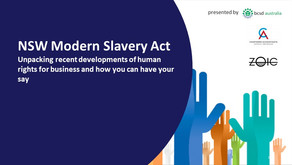Webinar: NSW Modern Slavery Act