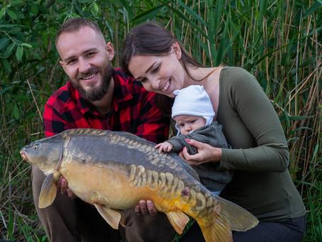 S bábätkom na rybách