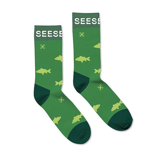 green socks women fishing