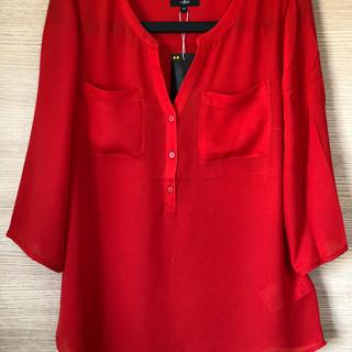 blouse rouge JBC