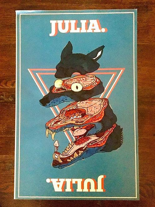 JULIA. Poster (Blue)