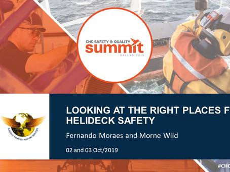 """BMA at CHC Safety & Quality Summit 2019: """"Looking at the right places for helideck safety"""