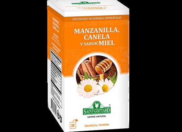 Manzanilla, canela y sabor miel
