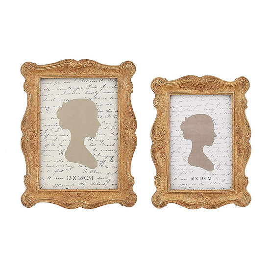 Vintage Picture Frames 4x6 Inch 5x7 Inch Set of 2