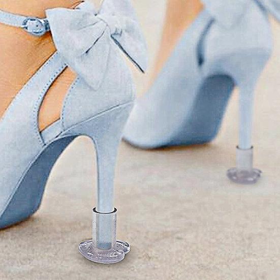 10 Pairs Heart Shaped Glittery High Heel Protectors