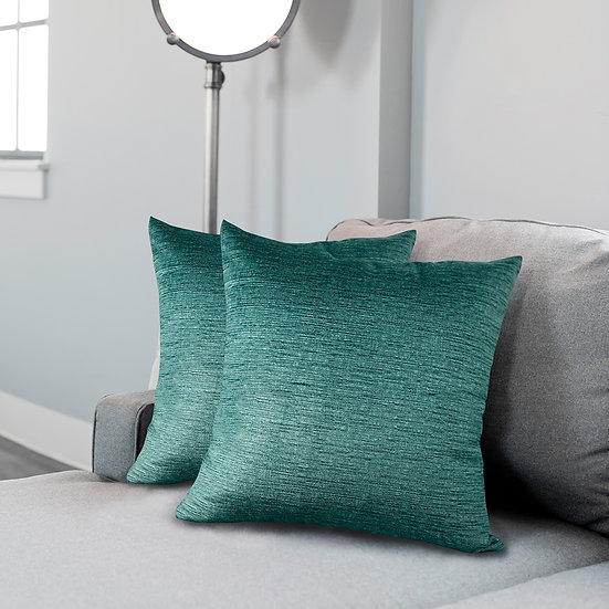 """Throw Square Pillow Case Cushion Covers, 18"""" x 18"""", Set of 2"""