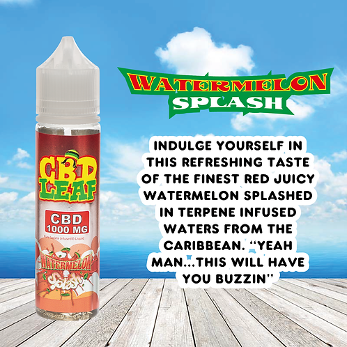 CBD Leaf - Watermelon Splash - 1000MG (60ML)