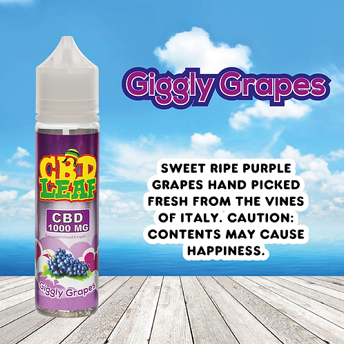 CBD Leaf - Giggly Grapes - 1000MG (60ML)
