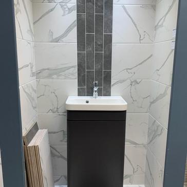 Carrara Marble Matt 60x30 Slate Grey brick 30x7.5