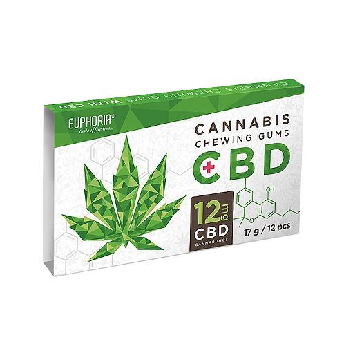 Euphoria Cannabis Chewing Gum CBD (12MG)