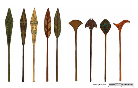 Volcano Bay - Decorative Paddles