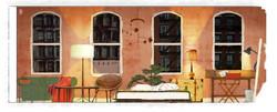 Midge's Apartment: Wall B