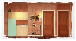 Midge's Apartment: Wall D