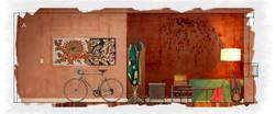 Midge's Apartment: Wall A