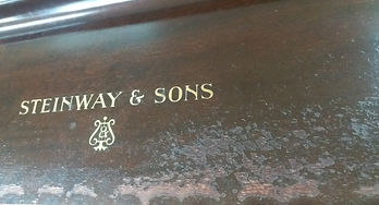 Steinway and Sons fall board, wood repair