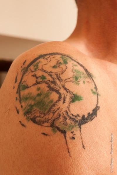 Tatouage Chamanique estampe arbre de vie