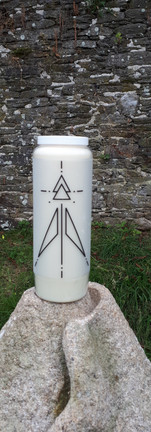 Bougie Neuvaine Rune cosmique dragon