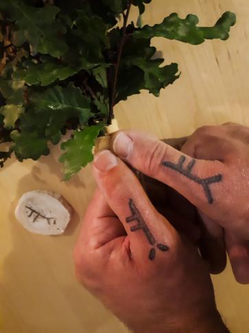 tatouage chamanique Ogham