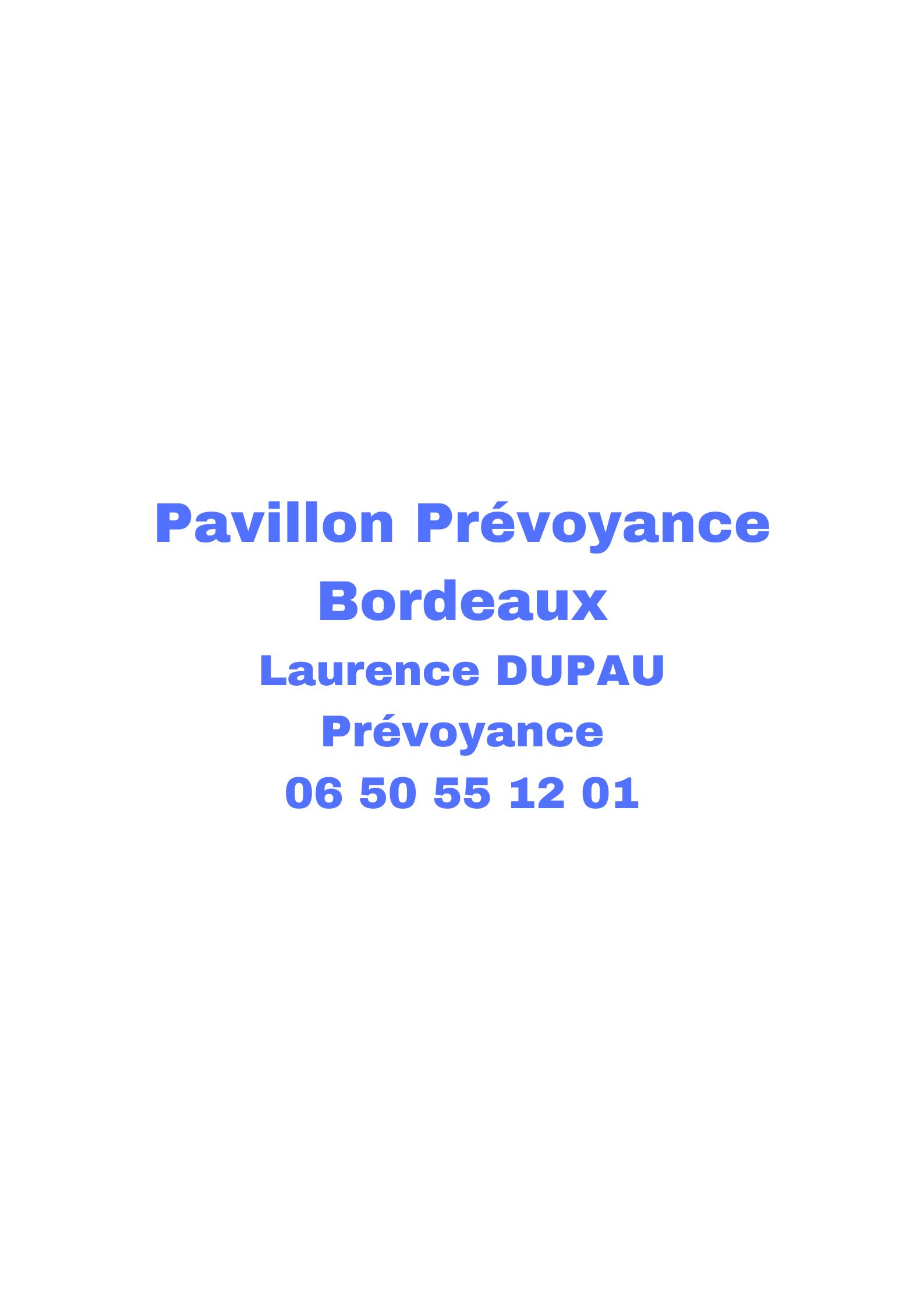 Pavillon Prévoyance Bordeaux