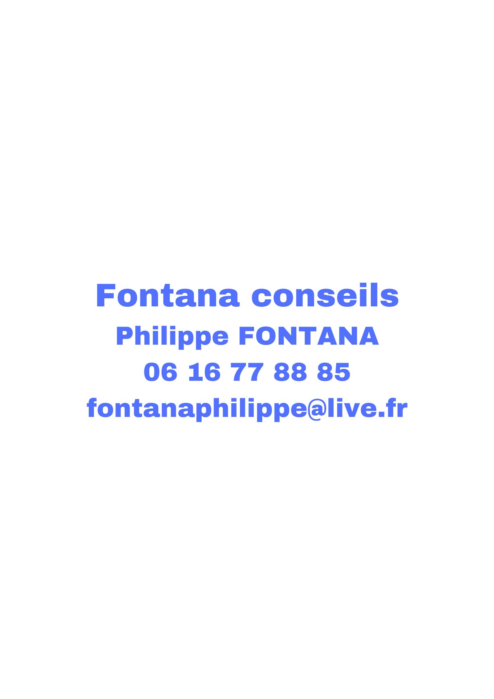Fontana conseil