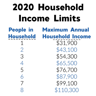 2020 Income Eligibility - Square Graphic