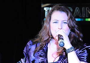 Bev Scott-Brown, Blaze band, singing, Cape Town, South Africa