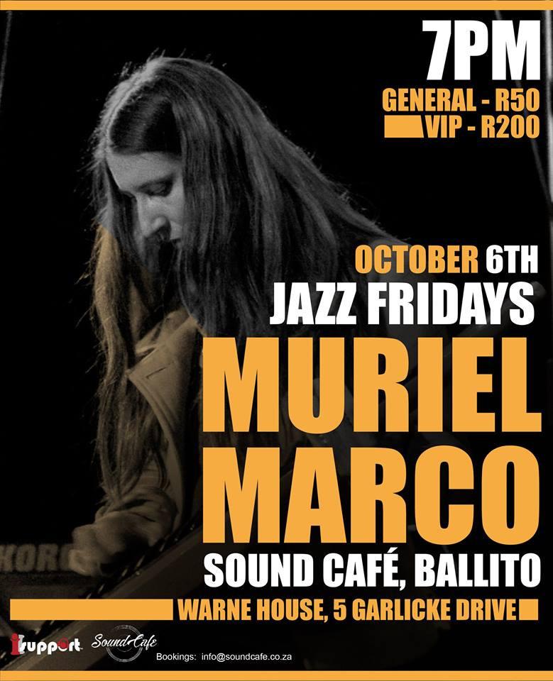 Muriel Marco en Sound Cafe - Durban