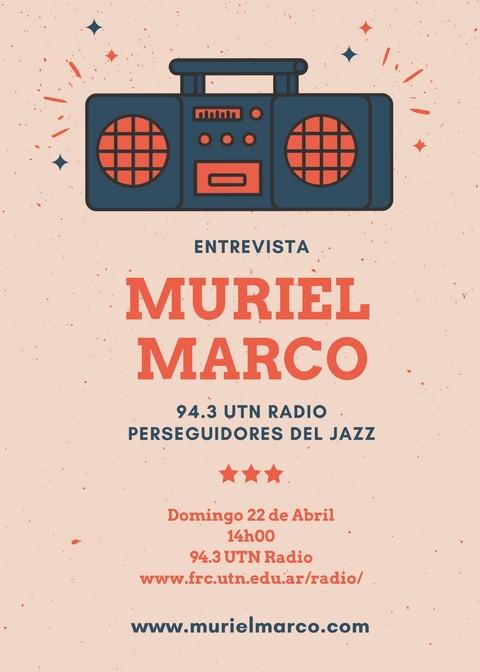 Muriel Marco Entrevista UTN Perseguidores del Jazz