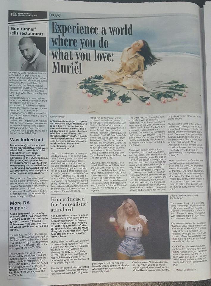Muriel in Weekender News