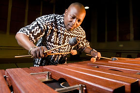 Chromatic marimba player, Cape Town, South Africa