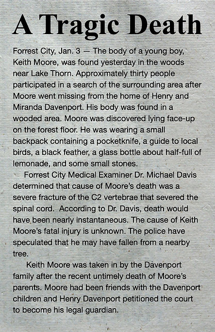 Haley - Newspaper article about Keith Mo