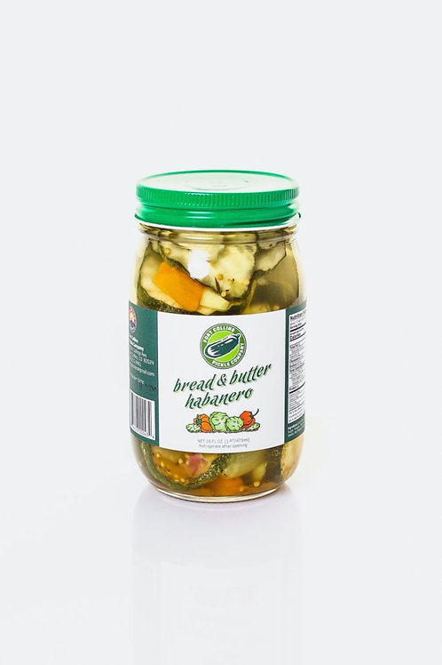 Bread & Butter Habanero Pickles