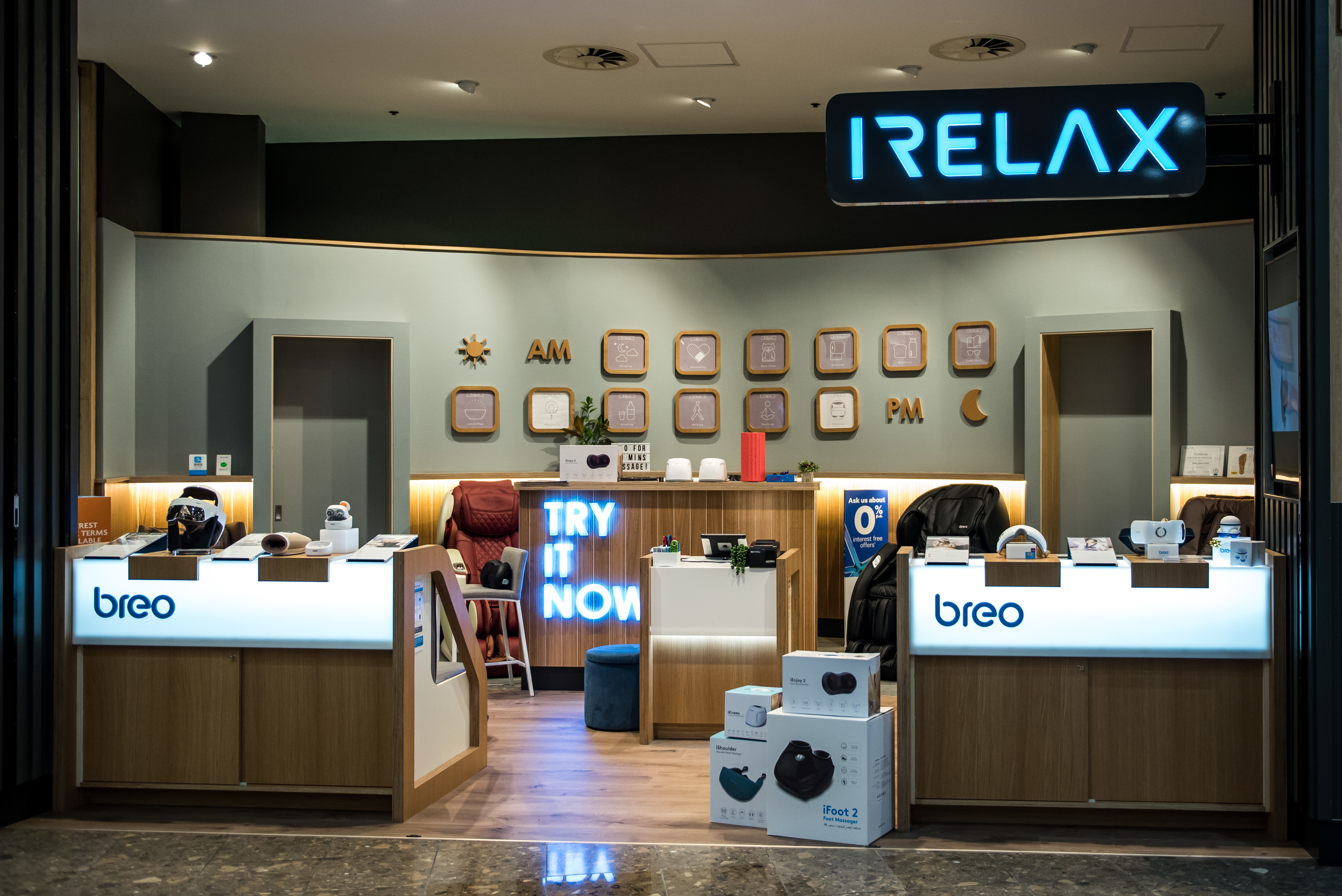 IRelax Auckland Retail Fitout Inspace
