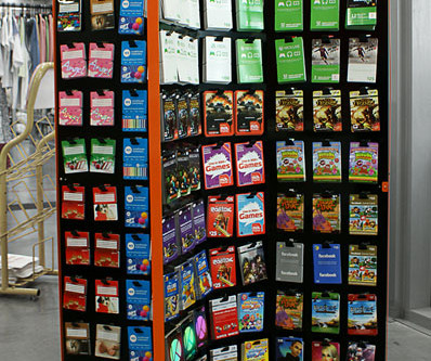 Epay Giftcard Display Stand