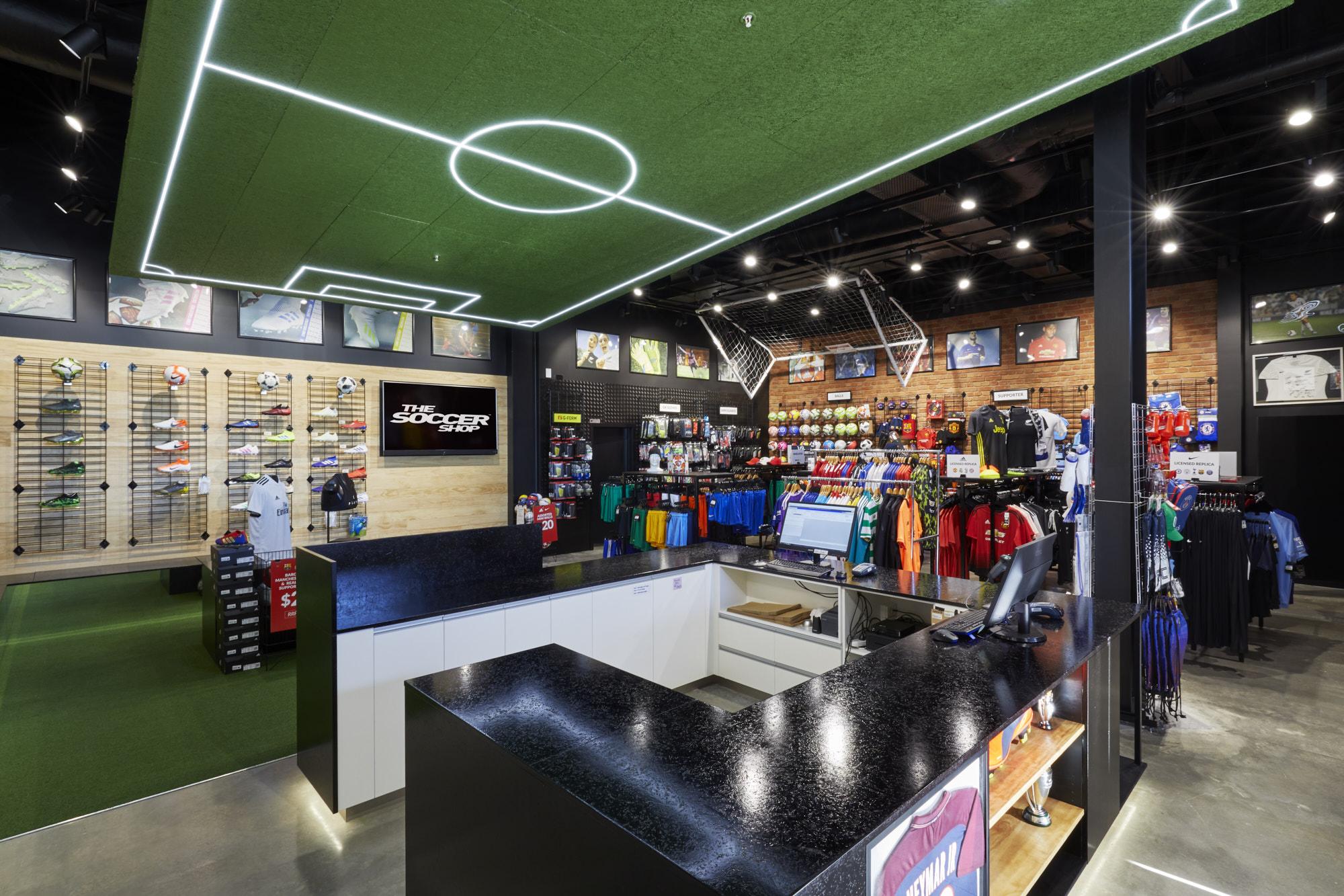 Soccer Shop Tauranga Retial Fitout Inspace