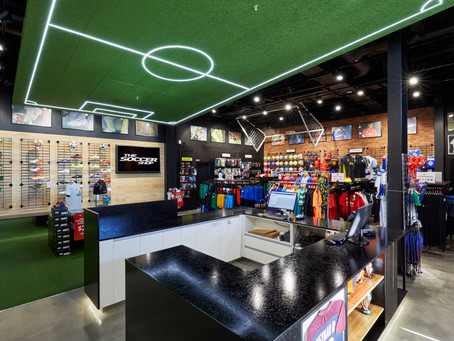 NZ Soccer Shop Bayfair Retail Fitout