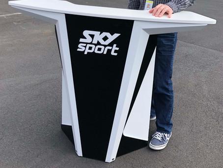 Portable Broadcasting Desk Sky Sport NZ