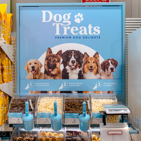 Alison's Pantry Dog Treat Display Stand