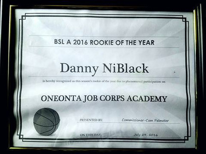 Danny Niblack 2016 A League Rookie of the Year (Terrence Parker Award)