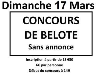 Concours de Belote !