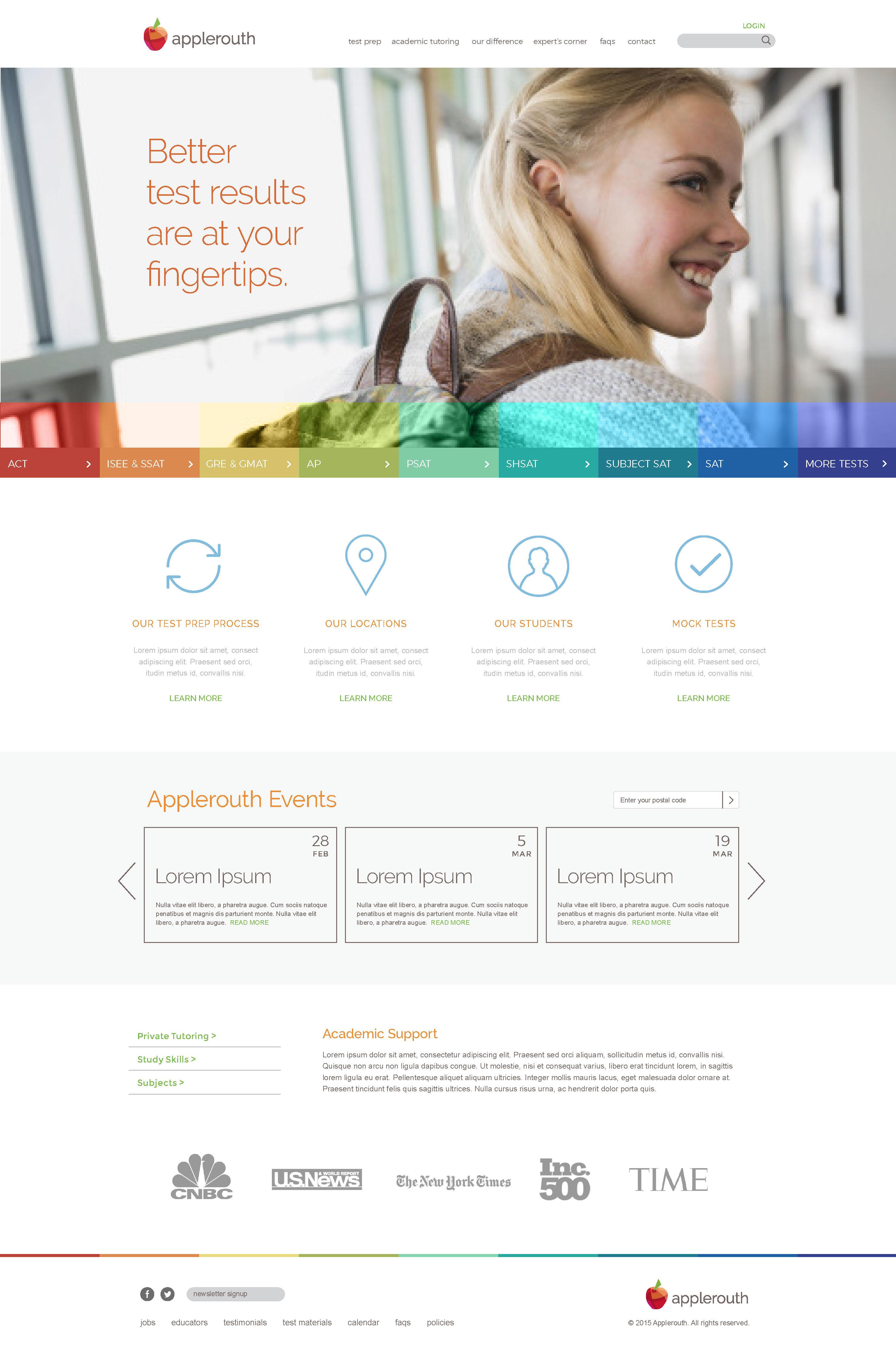 Webdesign for Applerouth
