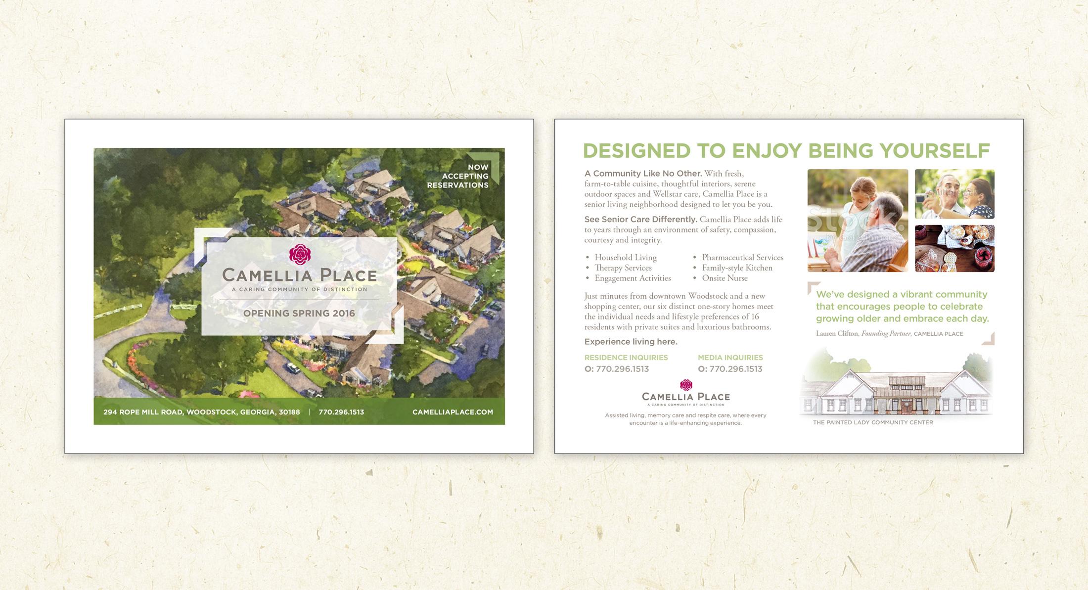 Camilla Place Postcard Design