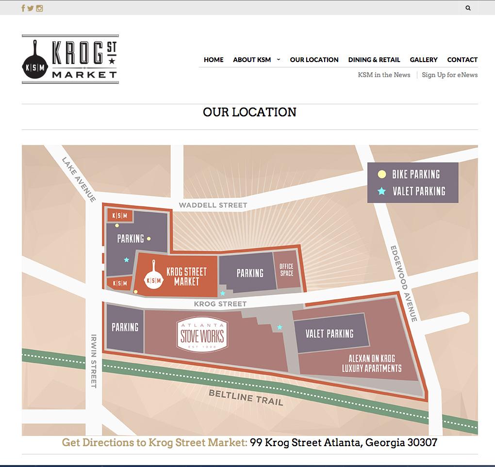 Krog Street Market Web Map