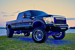 Route 66 Lifted Ford Truck Black