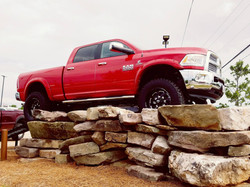 Route 66 Lifted Ram Truck Red