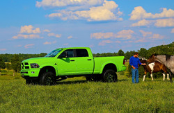 Route 66 Lifted Ram Truck Green