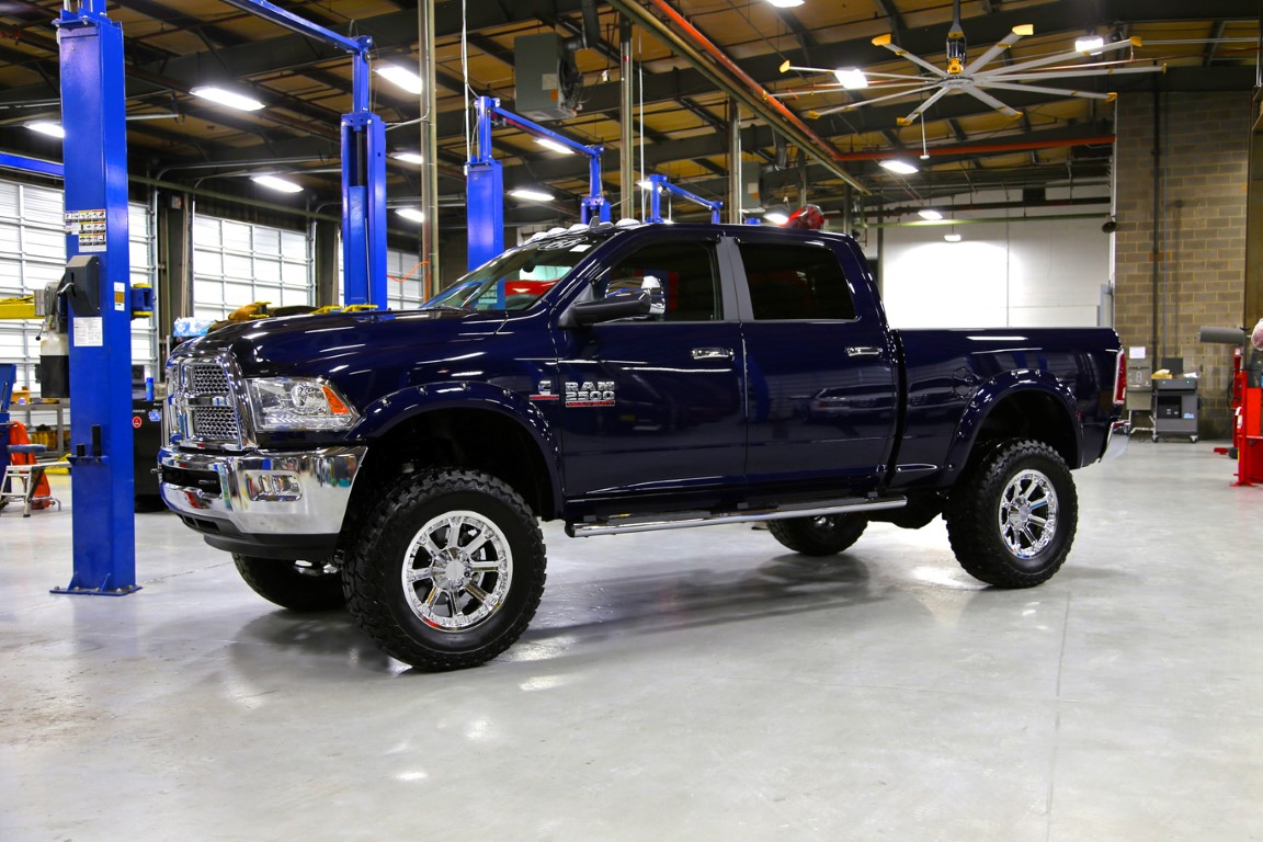 Route 66 Lifted Ram Truck Blue