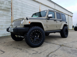 Route 66 Lifted Jeep JK Tan