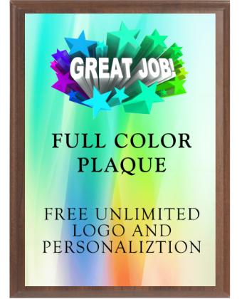 Full Color Plaque