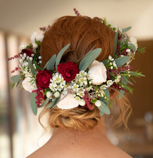 Boho Floral Crown Hairstyle